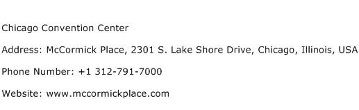 Chicago Convention Center Address Contact Number