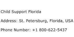 Child Support Florida Address Contact Number