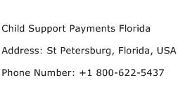 Child Support Payments Florida Address Contact Number