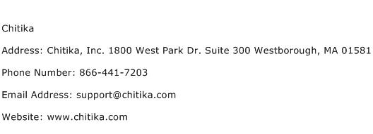 Chitika Address Contact Number
