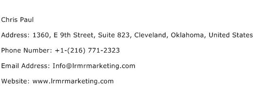 Chris Paul Address Contact Number
