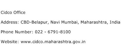 Cidco Office Address Contact Number