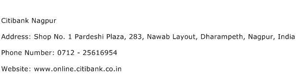 Citibank Nagpur Address Contact Number