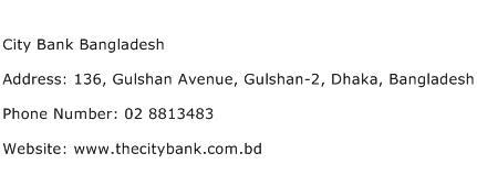 City Bank Bangladesh Address Contact Number