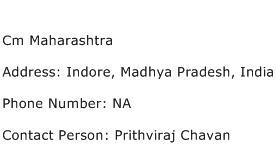 Cm Maharashtra Address Contact Number