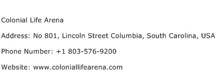 Colonial Life Arena Address Contact Number