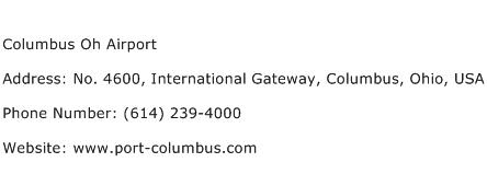 Columbus Oh Airport Address Contact Number