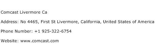 Comcast Livermore Ca Address Contact Number