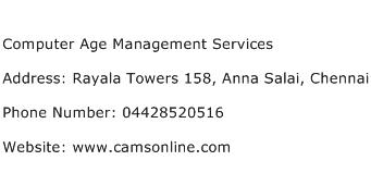 Computer Age Management Services Address Contact Number
