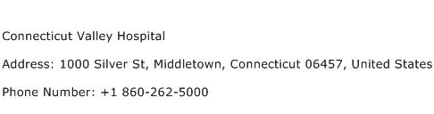 Connecticut Valley Hospital Address Contact Number