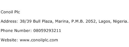 Conoil Plc Address Contact Number