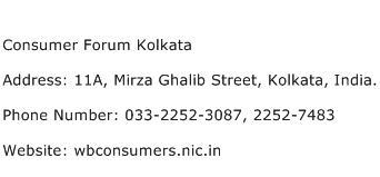 Consumer Forum Kolkata Address Contact Number