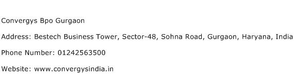 Convergys Bpo Gurgaon Address Contact Number