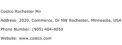Costco Rochester Mn Address Contact Number