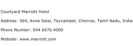 Courtyard Marriott Hotel Address Contact Number