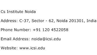 Cs Institute Noida Address Contact Number