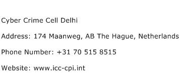 Cyber Crime Cell Delhi Address Contact Number