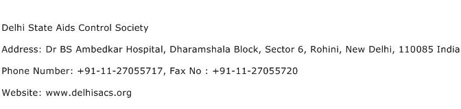 Delhi State Aids Control Society Address Contact Number