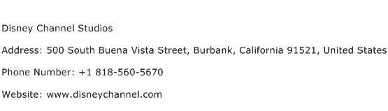Disney Channel Studios Address Contact Number
