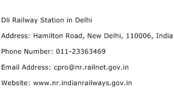 Dli Railway Station in Delhi Address Contact Number