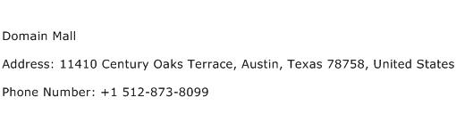 Domain Mall Address Contact Number