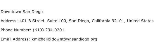 Downtown San Diego Address Contact Number