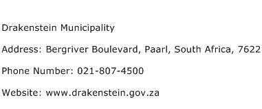 Drakenstein Municipality Address Contact Number
