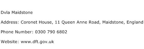 Dvla Maidstone Address Contact Number
