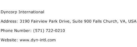 Dyncorp International Address Contact Number