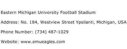 Eastern Michigan University Football Stadium Address Contact Number
