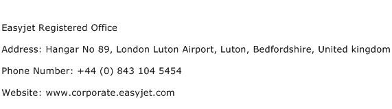 Easyjet Registered Office Address Contact Number