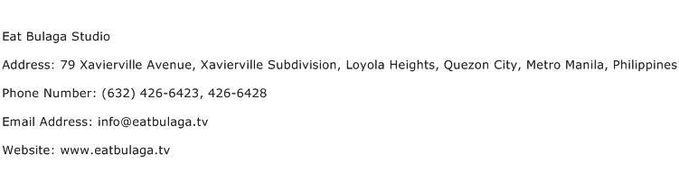 Eat Bulaga Studio Address Contact Number