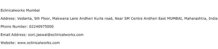 Eclinicalworks Mumbai Address Contact Number