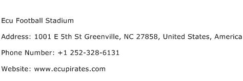 Ecu Football Stadium Address Contact Number