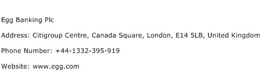 Egg Banking Plc Address Contact Number