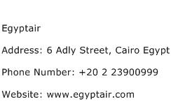 Egyptair Address Contact Number