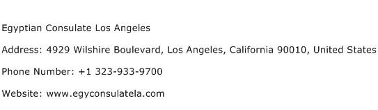Egyptian Consulate Los Angeles Address Contact Number