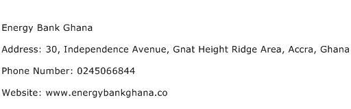 Energy Bank Ghana Address Contact Number