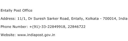 Entally Post Office Address Contact Number