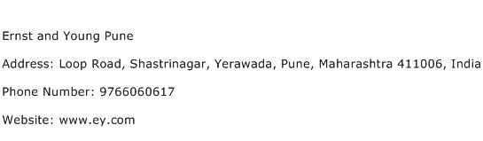 Ernst and Young Pune Address Contact Number