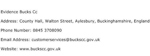 Evidence Bucks Cc Address Contact Number