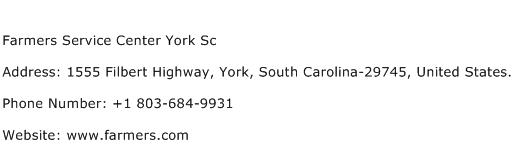 Farmers Service Center York Sc Address Contact Number