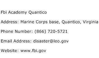 Fbi Academy Quantico Address Contact Number