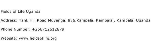 Fields of Life Uganda Address Contact Number