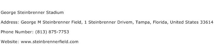 George Steinbrenner Stadium Address Contact Number