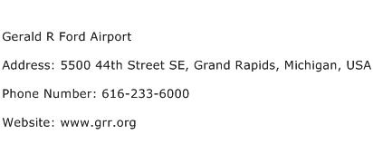 Gerald R Ford Airport Address Contact Number