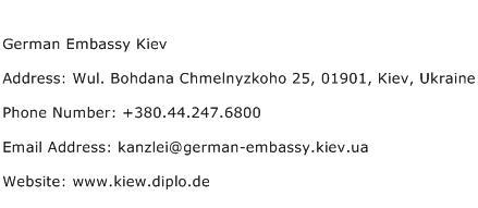 German Embassy Kiev Address Contact Number