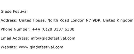 Glade Festival Address Contact Number