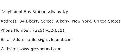 Greyhound Bus Station Albany Ny Address Contact Number