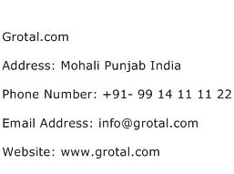 Grotal.com Address Contact Number